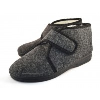 Unisex Hook & Loop Felt Booties ATTICUS