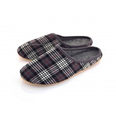 Ladies & Men's Tartan Felt Slippers FINLEY