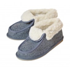 Women's Sheep's Wool and Felt Moccasin Slippers ARIELLE