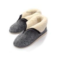 Women's Zipped Felt & Wool Booties CARO II