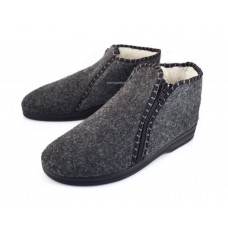 Unisex Zipped Felt Booties CARO