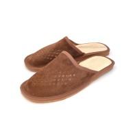 Brown Suede Mule Slippers TAGO