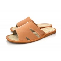 Peep Toe Mule Slipper CAMEL