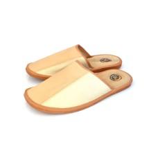 Tan / Beige Men's Leather Slippers BACH. SALE