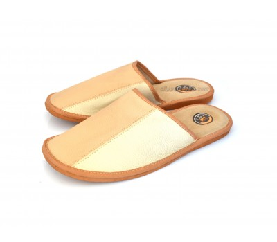 Tan / Beige Men's Leather Slippers BACH. SALE