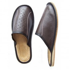Brown Leather Slipper SALE Size 7