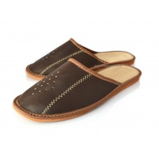 Brown Leather Slipper SALE Size 6.5