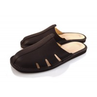 Brown Calfskin Mule Sandals TRISTAN