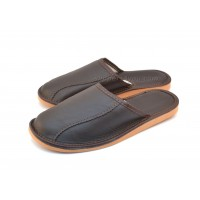 Brown Calfskin Slippers BRANDO