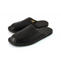Black Calfskin Slippers BRANDO