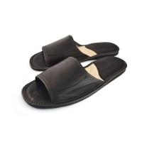 Open Toe Mens Calfskin Slippers COLE