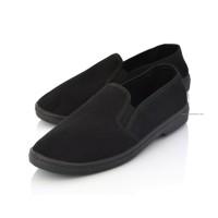 Black Canvas Moccasin Loafers JULEN