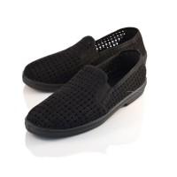 Black Net Deck Loafers JULES