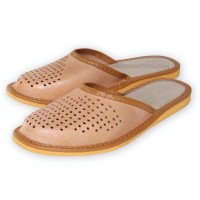 Unisex Mens-Womens Leather Slippers CRUZ