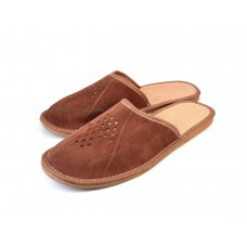 Brown Suede Mule Slippers ACHILLE
