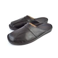 Luxury Black Nappa Calfskin Mule Slippers ARISTOCRAT