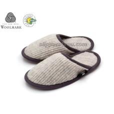 Certified Unisex Merino Lambswool Flat Slippers DAVEN