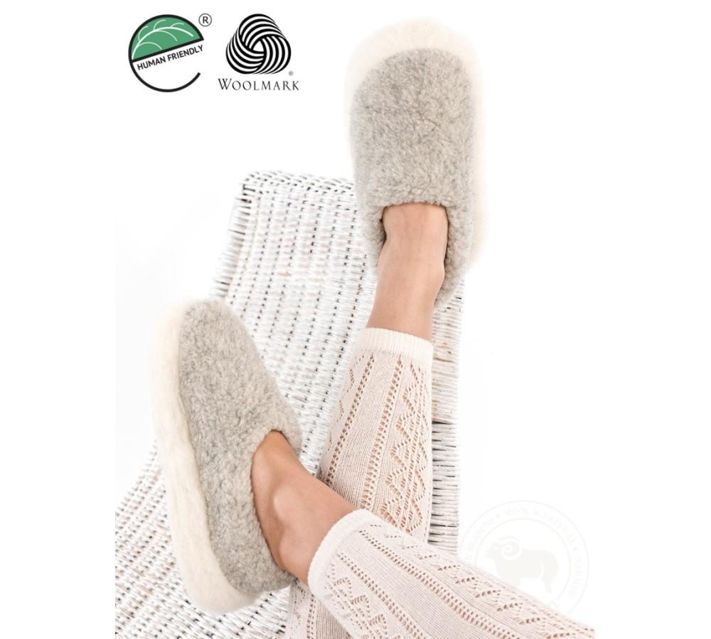 44c3db1e28ecf Men's / Women's Merino Wool Slippers POLAR