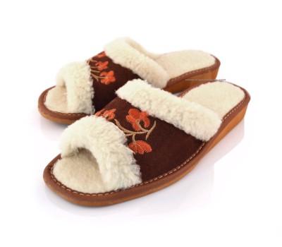 Peep Toe Suede&Wool Mules ELSA