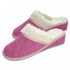Pink Winter Wedge Mules LUCIA