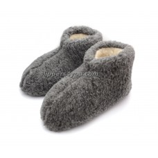 Grey Slipper Boots JANUARY