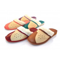 Leather & Sheep's Wool Warm Slippers LUMI