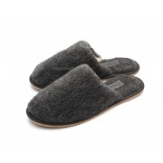 Lambswool Flat Slippers ALASKA GREY