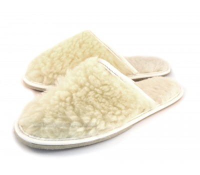 Lambswool Flat Slippers ALASKA