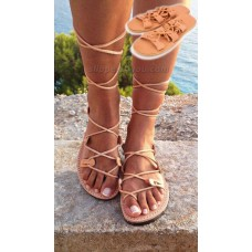 CLEOPATRA Strappy Lace Up Sandals