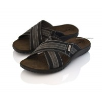 Criss-Cross Open Toe Mens Sandals LAGOON