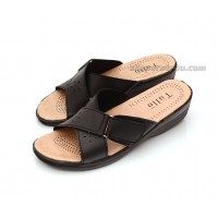Open Toe Black Mules Sandals FLORENCE