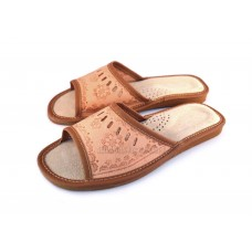Ladies Leather Slippers AZALEA