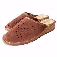 SALE: Leather & Cork Wedge Mules ADELA