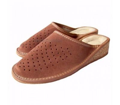 SALE: Leather & Cork Wedge Mules ADELA