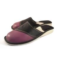 Purple Calfskin Slippers VICTORIA