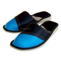 Blue Calfskin Slippers VICTORIA