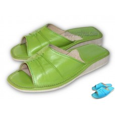 Green Blue Open Toe Mule SIENNA