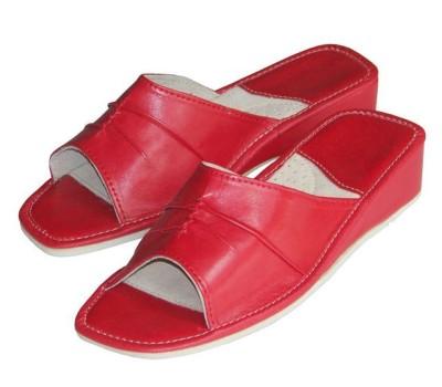 Open Toe Red Calfskin Mules AMELIA