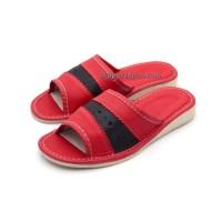 Peep Toe Red Slippers FLANNA