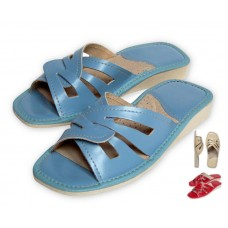 Blue Red Ivory Summer Mule LORETTA