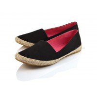 SALE Black Canvas Espadrilles ALBA