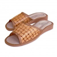 Open Toe Leather Slippers SUMMER I