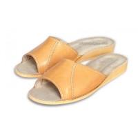 Tan Calfskin Slippers SARA