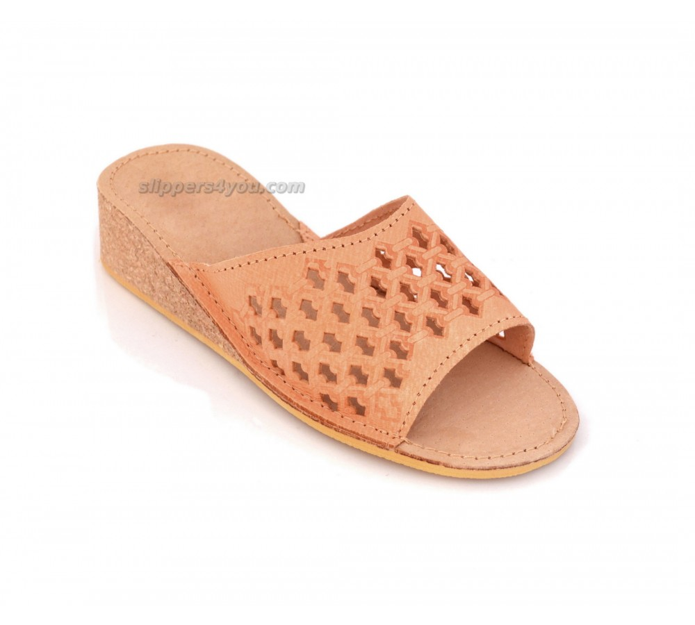 Cork Wedge Sandals Peep Toe