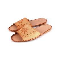 Tan Leather ALBERTA Slippers