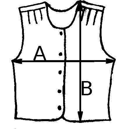 Lambswool waistcoat sizes